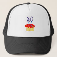 30th Birthday Cupcake Trucker Hat