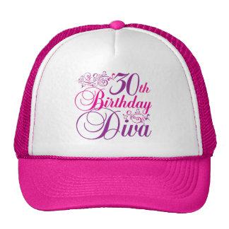 30th Birthday Diva Mesh Hat