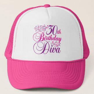 30th Birthday Diva Trucker Hat