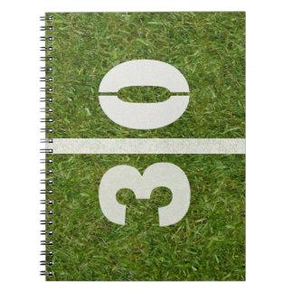 30th Birthday Football Field Notebook