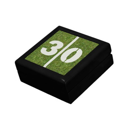 30th Birthday Football Jewelry Gift Box