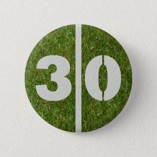 30th Birthday Football Yard Button