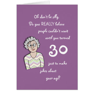 30th Birthday For Her-Funny Card