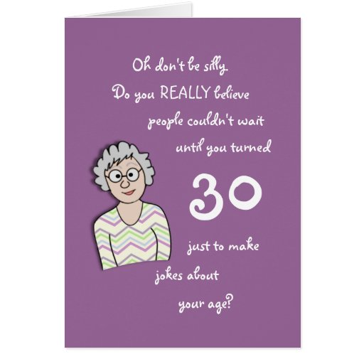 30th Birthday For Her-Funny Card | Zazzle