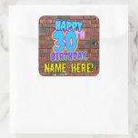 [ Thumbnail: 30th Birthday – Fun, Urban Graffiti Inspired Look Sticker ]