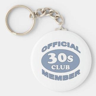 30th Birthday Gag Gifts Basic Round Button Keychain