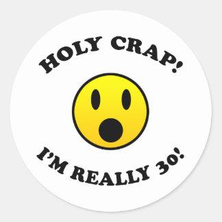 30th Birthday Gag Gifts Classic Round Sticker