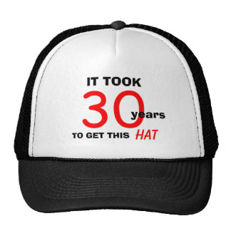 30th Birthday Gag Gifts Hat for Men