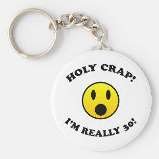30th Birthday Gag Gifts Keychain