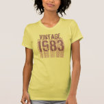 30th Birthday Gift 1983 Vintage Cream  Purple Z1K T Shirt