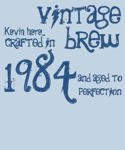 30th Birthday Gift 1984 Vintage Brew Blue Denim T Shirts