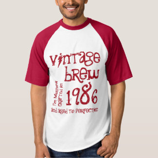 30th Birthday Gift 1986 or Any Year Vintage Brew 5 T-shirt
