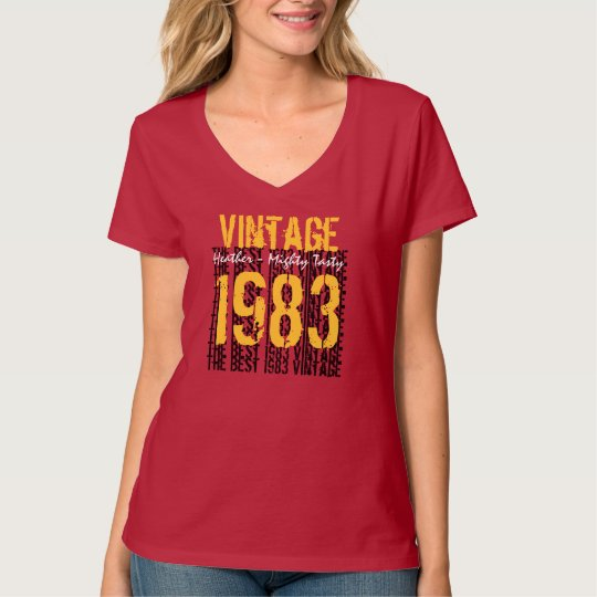 30th Birthday Gift Best 1983 Vintage Red Y040 T-Shirt