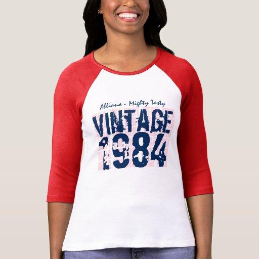 30th Birthday Gift Best 1984 Vintage Grunge V008 Tee Shirt