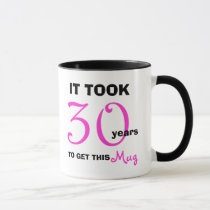 30th Birthday Gift Ideas Mug for Women