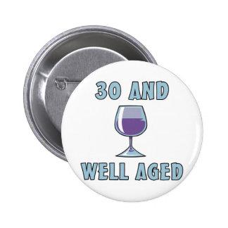 30th Birthday Gifts Pin