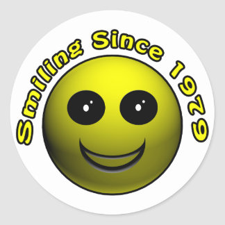 30th Birthday Gifts, Smiling Since 1979 ! Classic Round Sticker