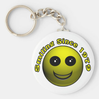 30th Birthday Gifts, Smiling Since 1979 ! Keychain