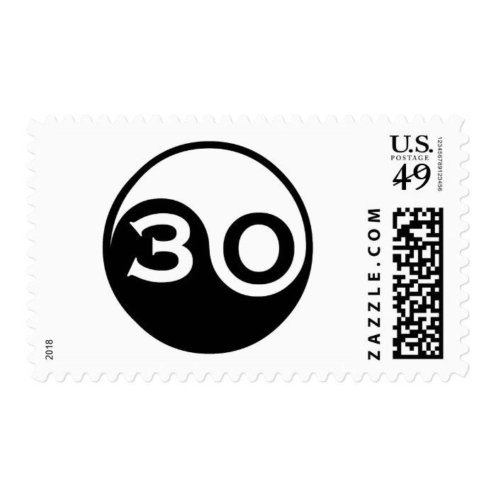 30th Birthday Gifts Stamp