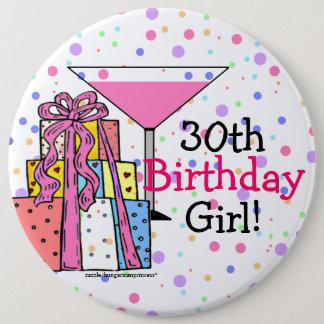 30th Birthday Girl Button