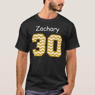 30th Birthday Gold Chevrons Custom Name V02 T-Shirt