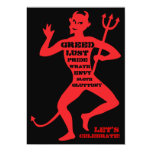 """30th Birthday - Hell of a Party 5"""" X 7"""" Invitation Card"""