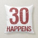 30th Birthday Humor Pillows