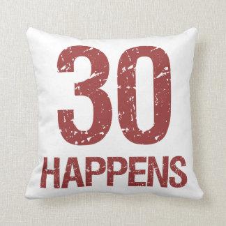 30th Birthday Humor Throw Pillow