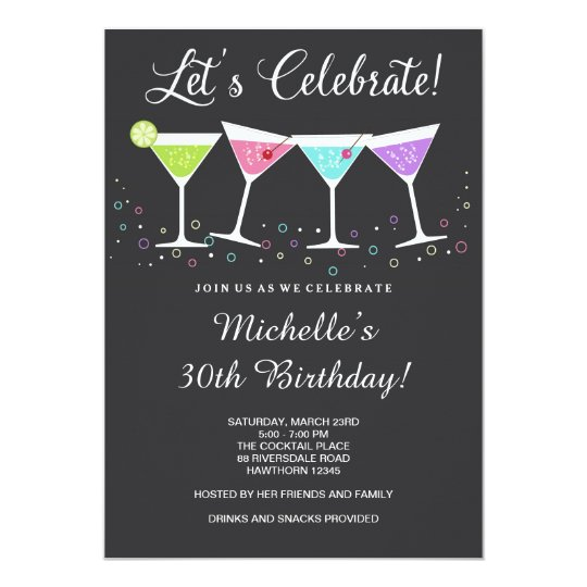 30th Birthday Invitation Adult Invite Zazzle Com