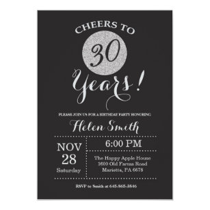 30 års inbjudan Cheers To Thirty Years Invitations | Zazzle 30 års inbjudan