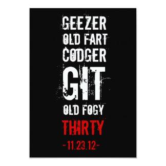 30th Birthday Invitation -Geezers & Old Folks