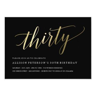30th birthday dirty 30 thirsty invitation zazzle stopboris Images