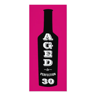 30th Birthday Invitations Wine Aged to Perfection