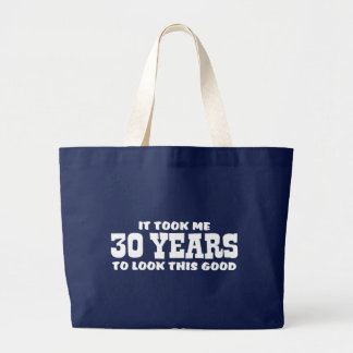 30th Birthday Large Tote Bag