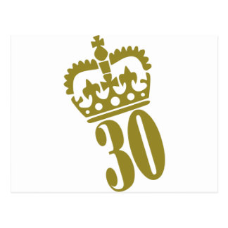 30th Birthday - Number – Thirty Postcard