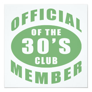 30th Birthday Official Member Card