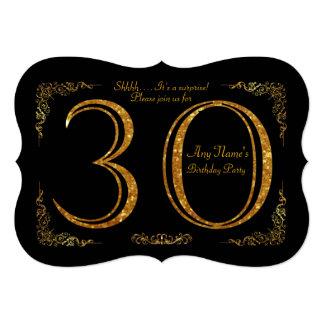 30th,Birthday party 30th,great Gatsby,black & gold Card