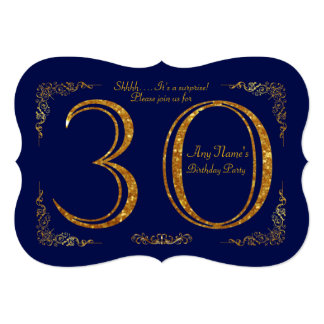 30th, Birthday party 30th,great Gatsby,Navy & gold Card