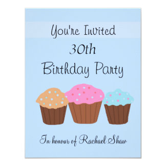 30th Birthday Party Card