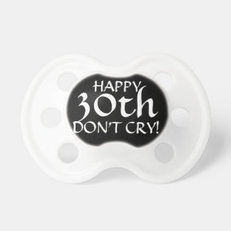 30th Birthday Party Gag Gift or Cake Topper! Pacifier