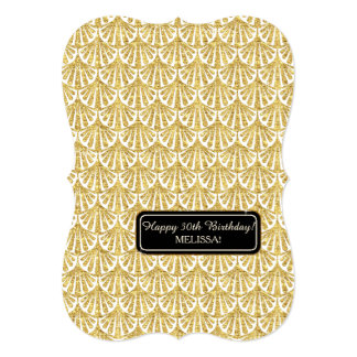 30th Birthday Party Glam Great Gatsby Style Card