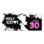 30th Birthday Party Invitation - Holy Cow!
