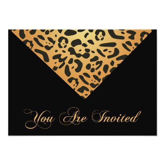 30th Birthday Party Invitation in Leopard