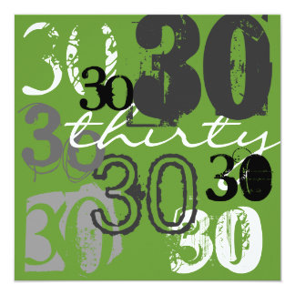 30th Birthday Party Invitations