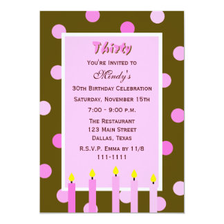 Years Old Invitations Announcements Zazzle - Birthday invitation 30 years old