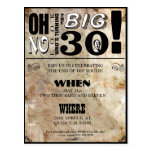 30th Birthday Party Invitations Postcards