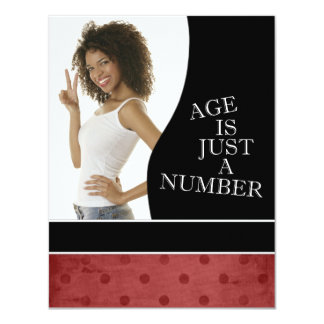 30th Birthday Party Invitations (Red)
