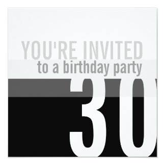 30th Birthday Party Invitations {Silver}