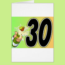 30th birthday party merchandise card