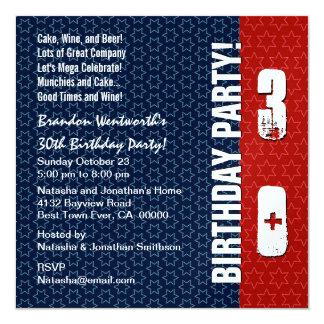30th Birthday Party Modern Square Invitation